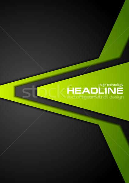 R sum entreprise vert noir flyer design for Flyer espace vert