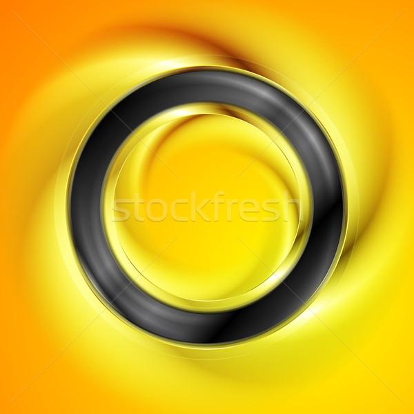 Negro anillo brillante naranja vector diseno Foto stock © saicle