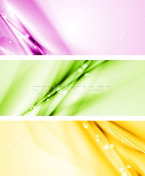 Colourful modern banners Stock photo © saicle