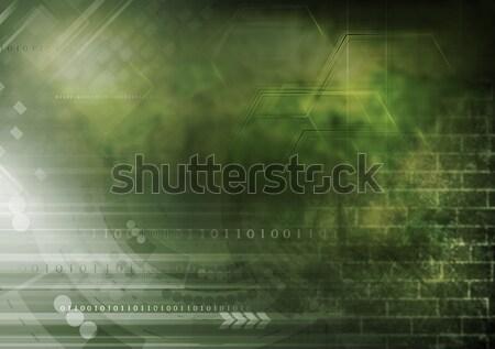 Foto d'archivio: Buio · grunge · tech · design · collage · abstract
