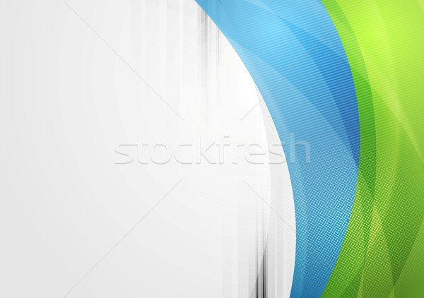 Abstract vibrant tech waves background Stock photo © saicle