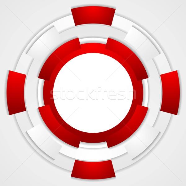 Trillend corporate tech cirkels vector ontwerp Stockfoto © saicle