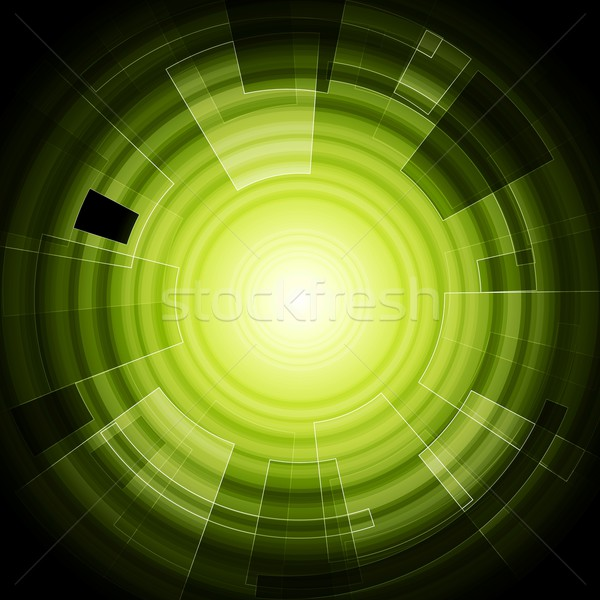 Green hi-tech background Stock photo © saicle