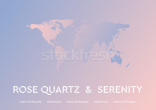 Trendy color of the 2016 year. Rose quartz and serenity Stock photo © saicle