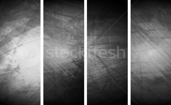 Grey grunge textural banners Stock photo © saicle