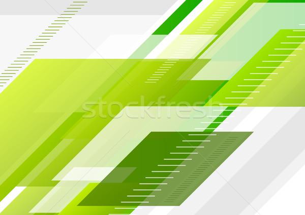 Zielone tech streszczenie minimalny wektora projektu Zdjęcia stock © saicle