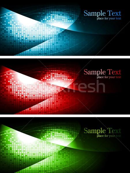 Dark contrast banners Stock photo © saicle