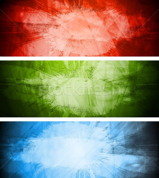Bright textural backgrounds set Stock photo © saicle
