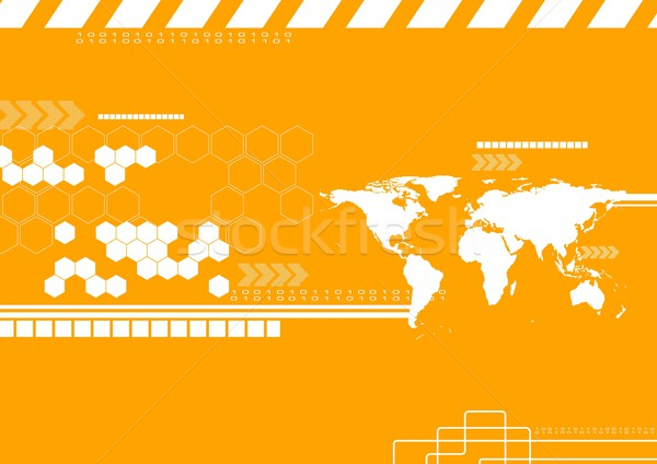 вектора технологий Мир карта фон корпоративного прибыль на акцию Сток-фото © saicle