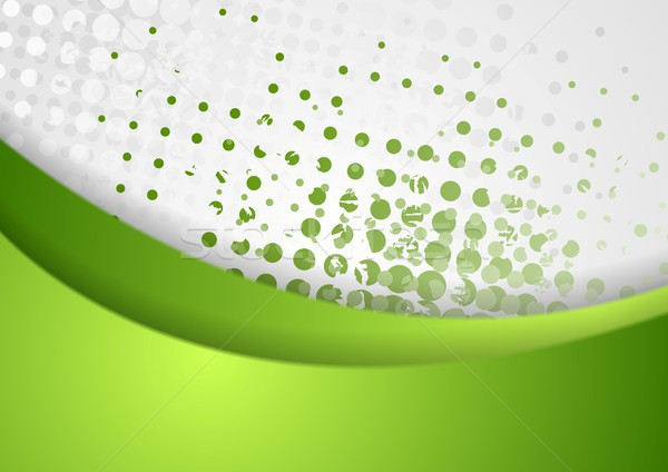 Abstract green grunge wavy background Stock photo © saicle