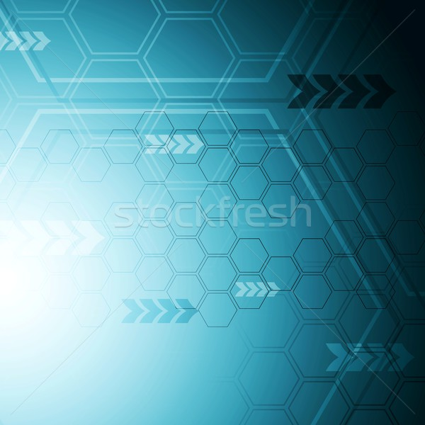 Blue hi-tech abstract background Stock photo © saicle