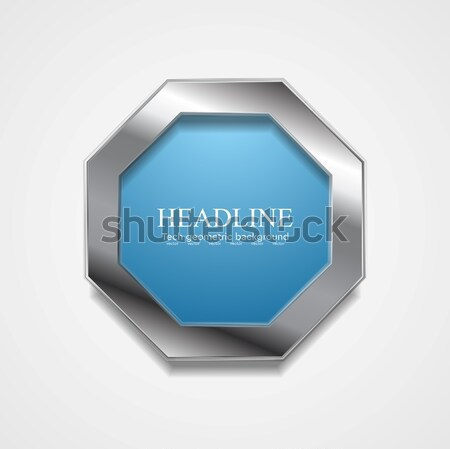 Abstract blue and grey vector background Stock photo © saicle