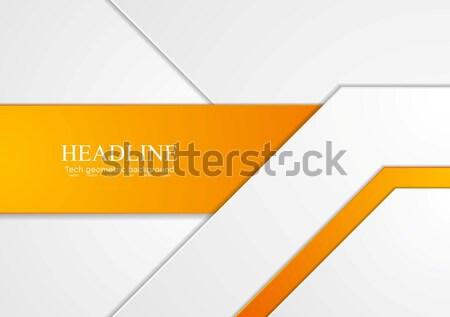 Oranje grijs abstract beweging vector corporate Stockfoto © saicle