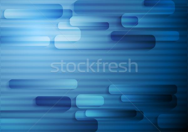 Mértani sötét kék csíkos vektor sablon Stock fotó © saicle