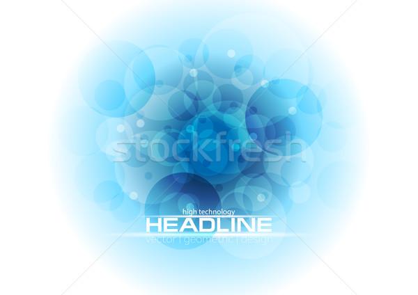 ярко синий Tech геометрический Круги аннотация Сток-фото © saicle