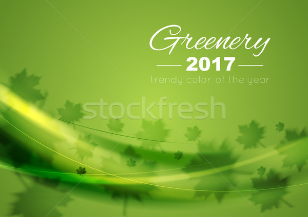 Color of the year 2017 Greenery waves background Stock photo © saicle