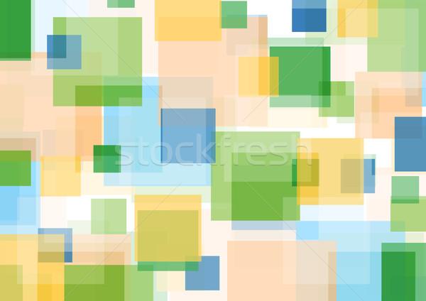 Kolorowy streszczenie geometryczny wzór wektora projektu Zdjęcia stock © saicle