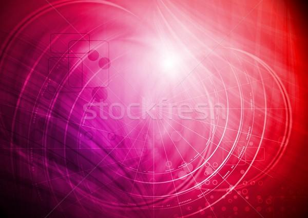 ярко технической абстракция аннотация прибыль на акцию 10 Сток-фото © saicle