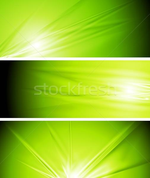 ベクトル 薄緑 夏 バナー 抽象的な デザイン ストックフォト © saicle