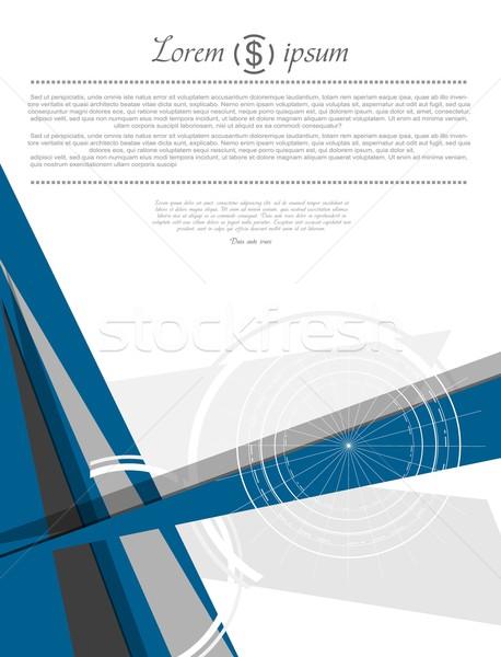 Abstract modern minimal flat flyer design Stock photo © saicle