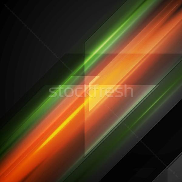Hi-tech background with shiny glow stripes Stock photo © saicle