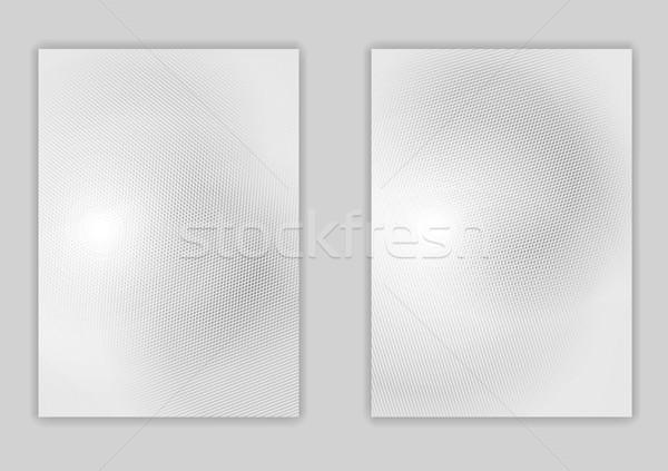 минимальный свет серый Flyer дизайна текстуры Сток-фото © saicle