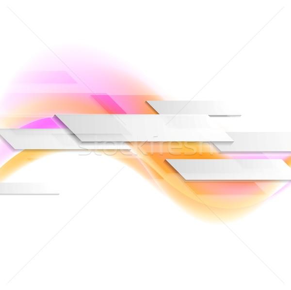 Falisty ruchu wektora projektu tekstury świetle Zdjęcia stock © saicle