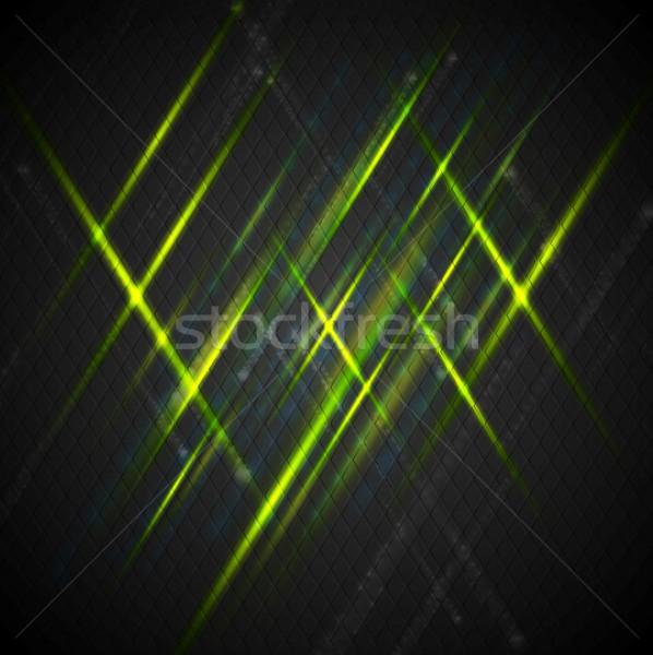 Zdjęcia stock: Zielone · błyszczący · świetle · ciemne · wektora · projektu