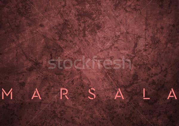 Trendy color marsala 2015. Grunge vector background Stock photo © saicle