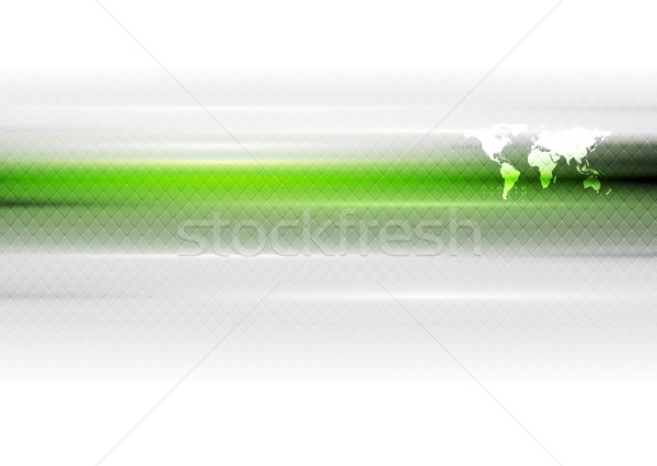 Verde branco vetor abstrato mapa do mundo arte Foto stock © saicle