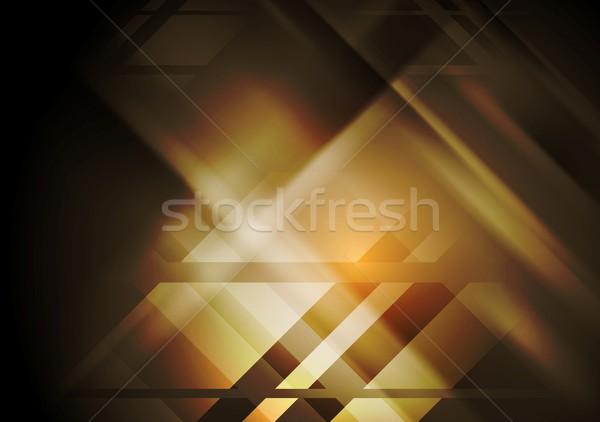 Sötét mértani absztrakt vektor terv üzlet Stock fotó © saicle