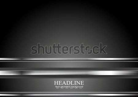 Minimalny technologii metaliczny wektora streszczenie srebrny Zdjęcia stock © saicle