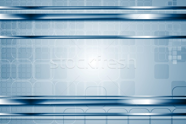 Tech abstract metallic vector background with squares Stock photo © saicle