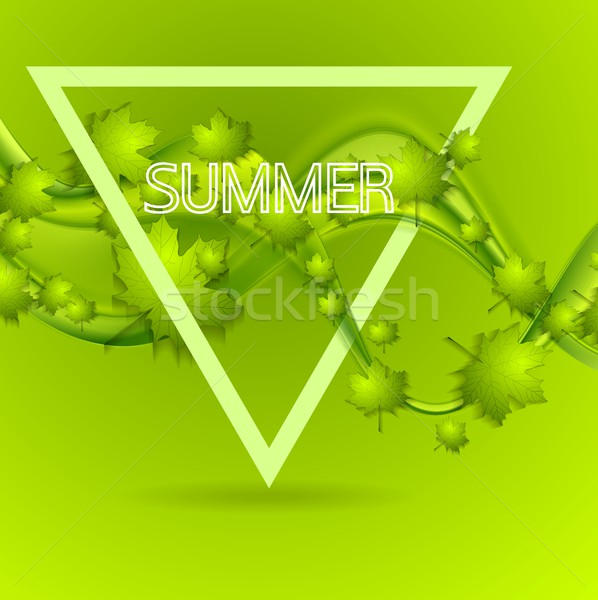 Bright green summer leaves wavy background Stock photo © saicle