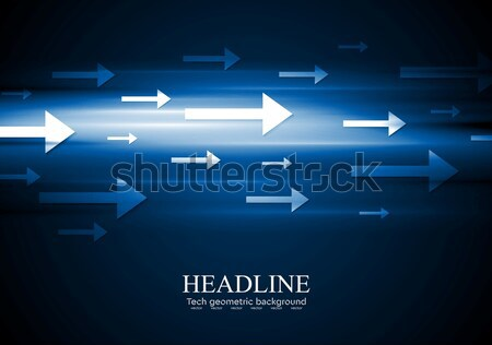 Dark blue hi-tech background with arrows Stock photo © saicle
