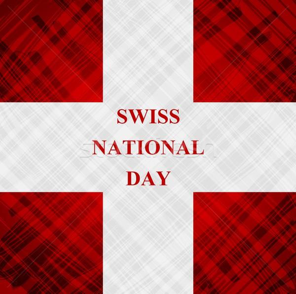 The Swiss National Day, Schweizer Bundesfeier Stock photo © saicle