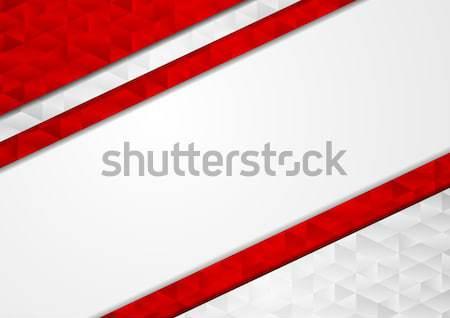 Stockfoto: Rood · grijs · abstract · tech · laag