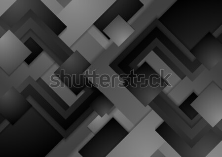 Hi-tech dark grey corporate abstract background Stock photo © saicle