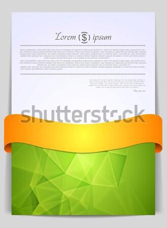 Geometrie tech ontwerp oranje lint textuur Stockfoto © saicle