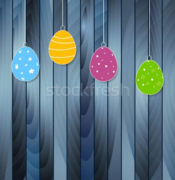 пасхальных яиц синий текстуры ярко яйца Сток-фото © saicle