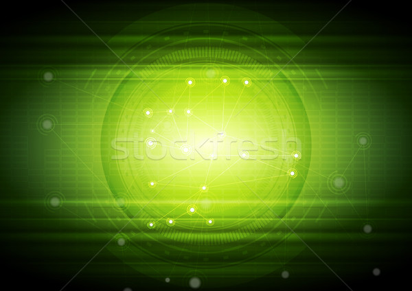 Bright green technology abstract background Stock photo © saicle