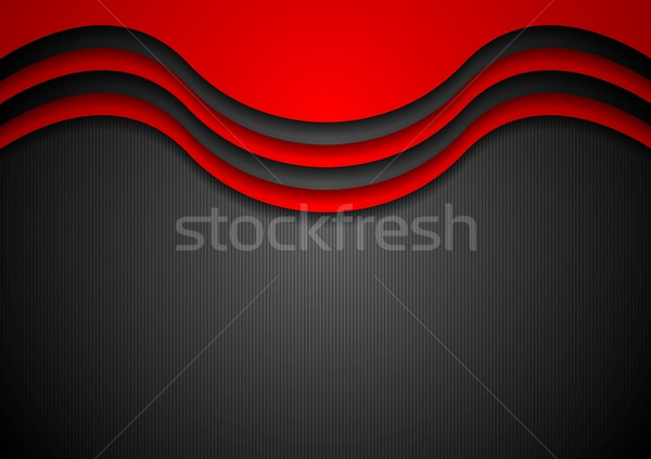 Abstract wavy corporate background Stock photo © saicle