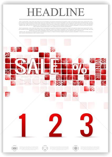 Utolsó tél vásár vektor szórólap sablon Stock fotó © saicle