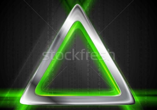 Stockfoto: Metaal · groene · licht · vector · ontwerp