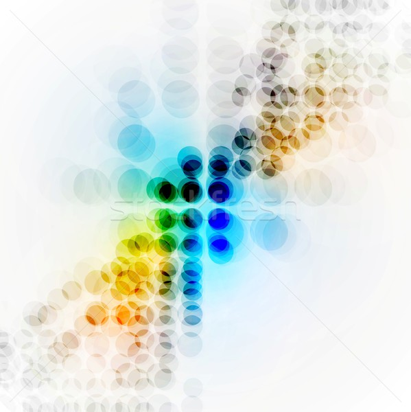 Colorful hi-tech background with circles Stock photo © saicle