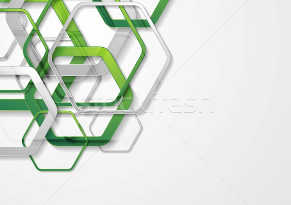 Abstract bright geometric tech hexagon shapes background Stock photo © saicle