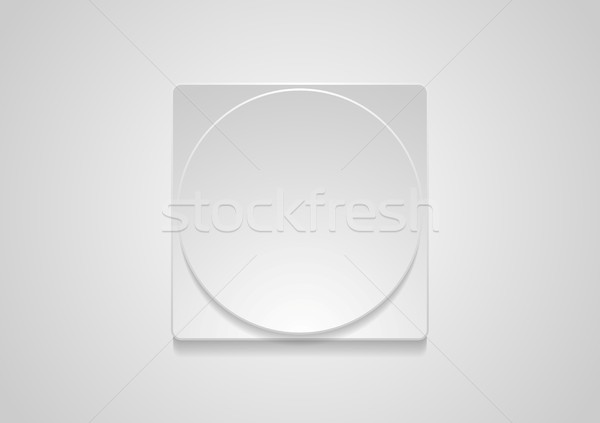 Abstract grey paper geometric web icon sticker Stock photo © saicle