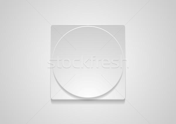 Soyut gri kâğıt geometrik web simgesi etiket Stok fotoğraf © saicle
