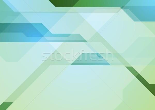 Streszczenie tech geometryczny minimalny wektora projektu Zdjęcia stock © saicle