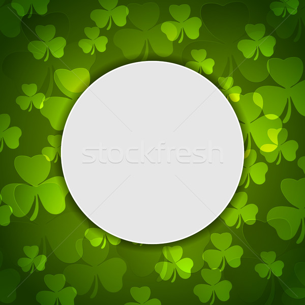 Green shamrock clovers St. Patrick Day Stock photo © saicle